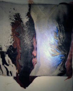 palladium print - abstract image based on tattoo of tree by Alice Garik